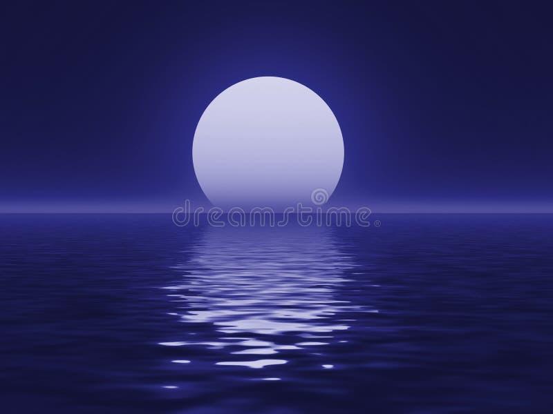blå moon stock illustrationer