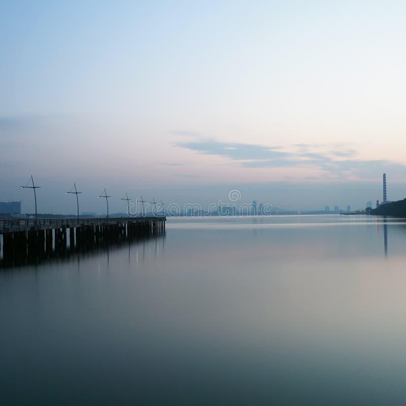 blå morgon arkivbild
