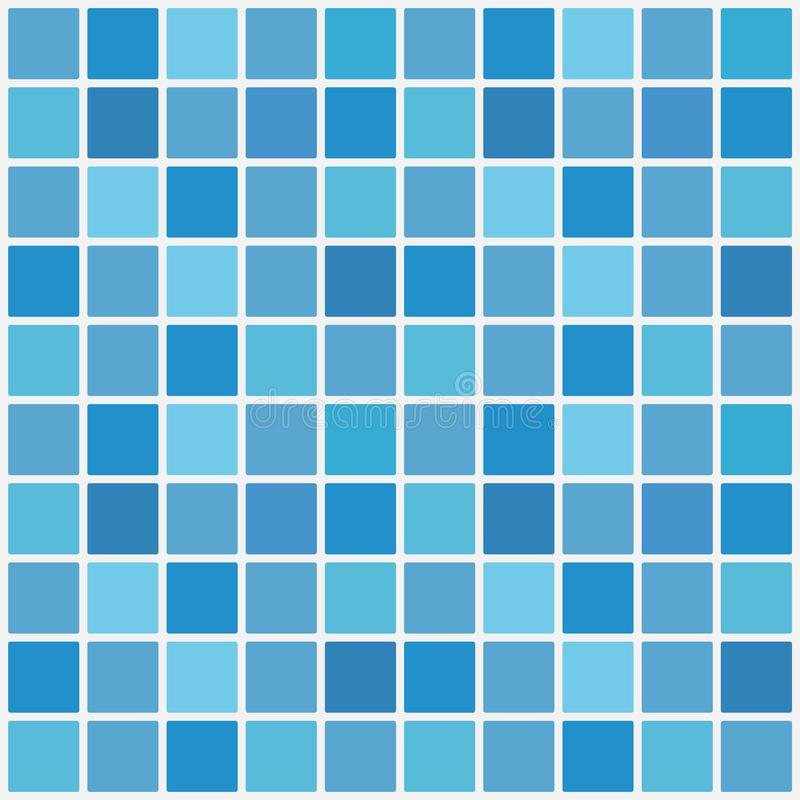 Blå mosaik för keramisk tegelplatta i simbassäng också vektor för coreldrawillustration stock illustrationer