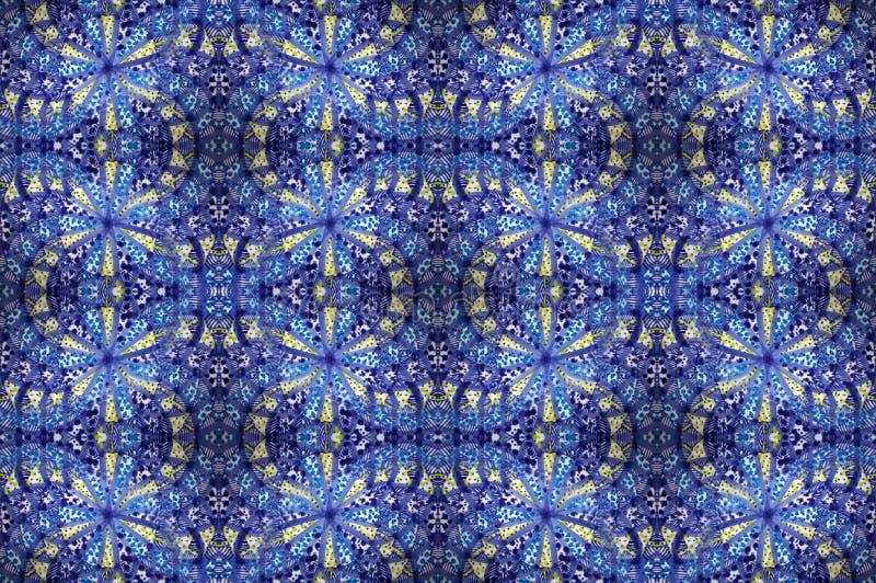 blå mosaiktegelplatta royaltyfria foton