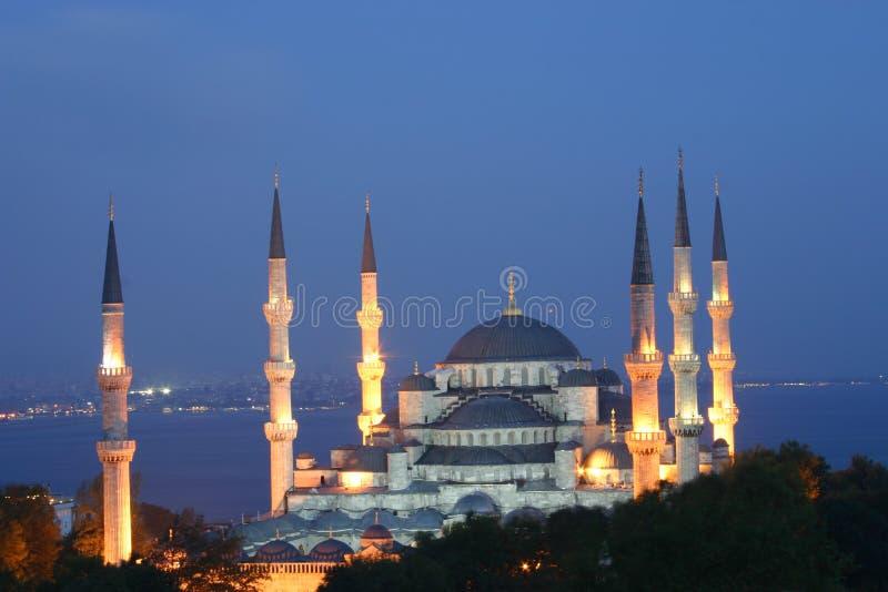 blå moské royaltyfria foton