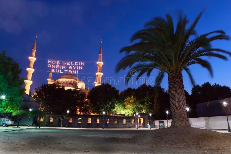 Blå moské i Ramadan i Istanbul, Turkiet fotografering för bildbyråer