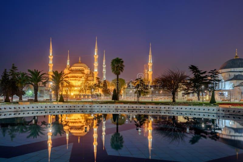 Blå moské, Istanbul, Turkiet fotografering för bildbyråer
