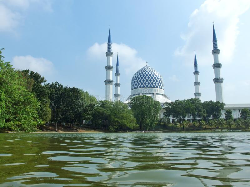 Blå moské, Shah Alam, Malaysia arkivfoto
