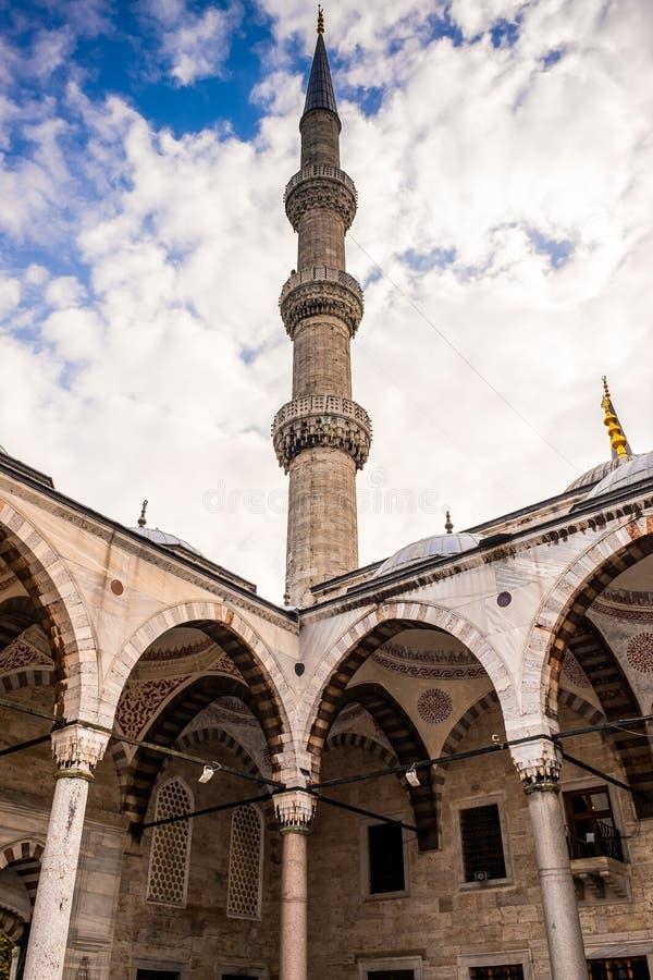 Blå moské Sultan Ahmet Cami för muslin i Istanbul, Turkiet arkivfoton