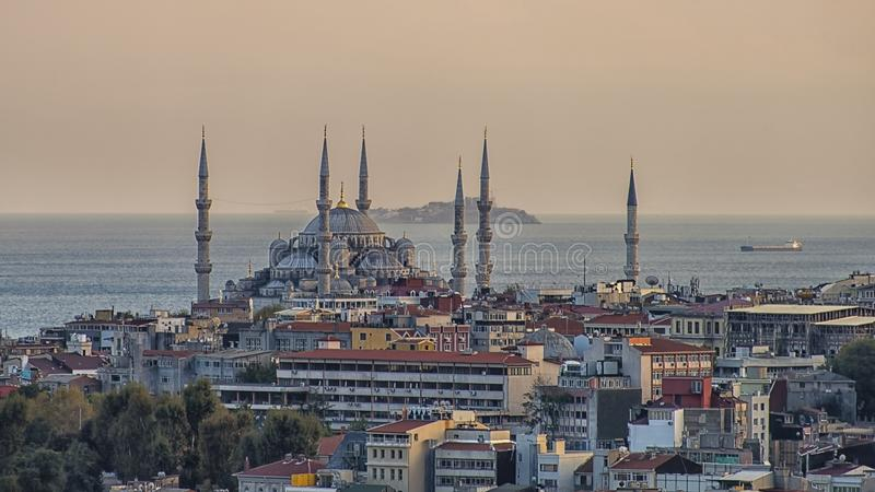 Blå moské Sultanahmet Camii i Istanbul arkivfoton