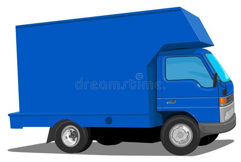 blå moving skåpbil stock illustrationer