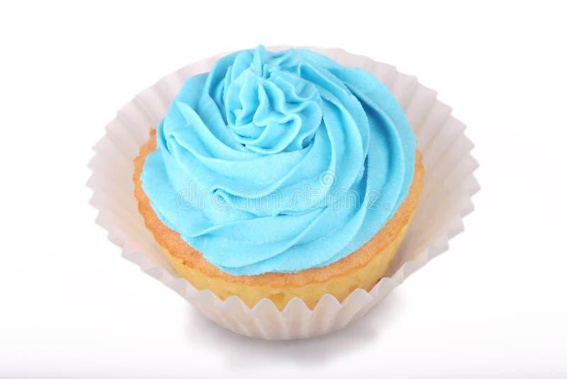 blå muffin arkivbilder