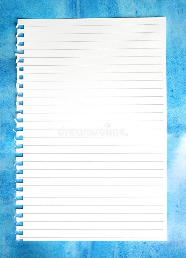 blå notepaper royaltyfria bilder