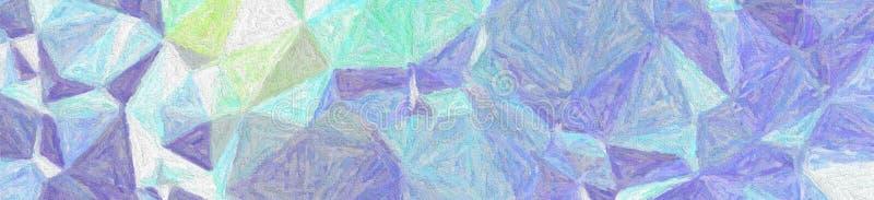 Blå och grå impressionism Impasto i illustration för banerformbakgrund vektor illustrationer