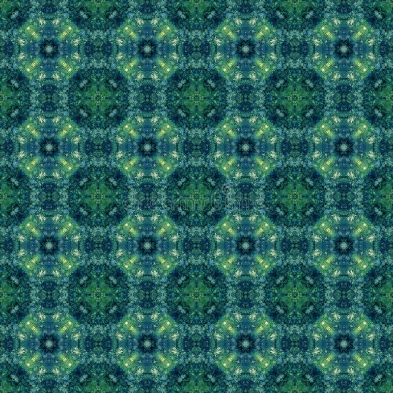 Blå och grön abstrakt sömlös texturillustration vektor illustrationer