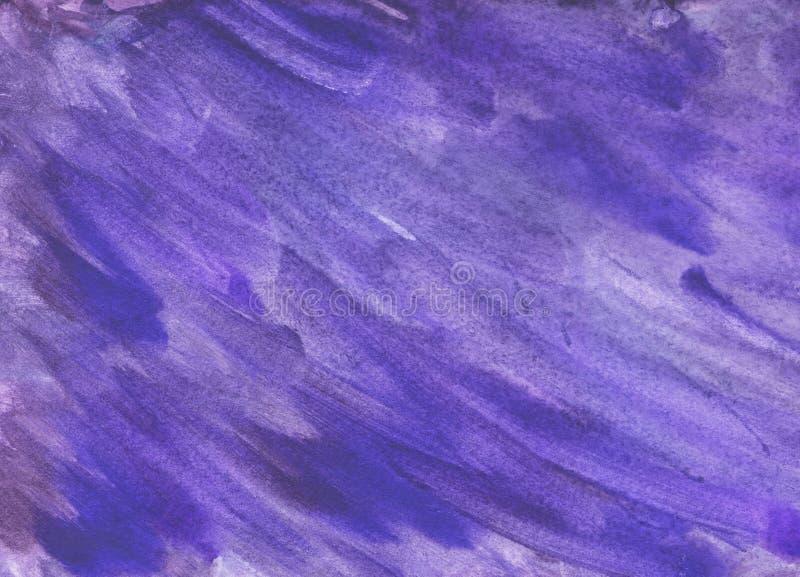 Blå och himla- bakgrund för abstrakt vattenfärg royaltyfri illustrationer