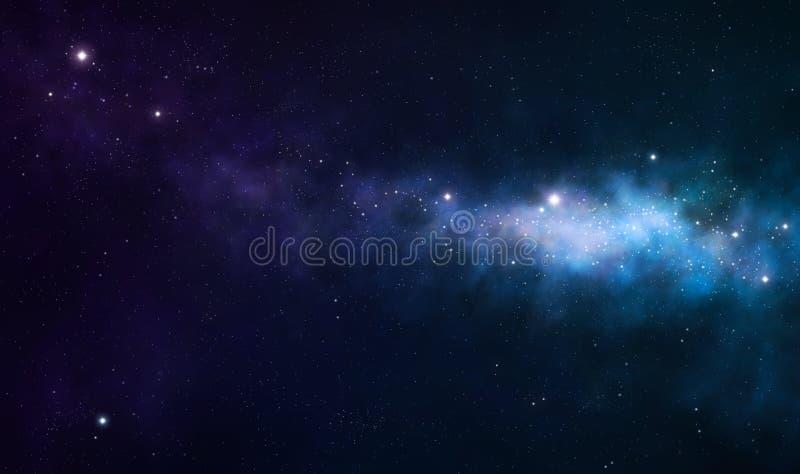 Blå och purpur nebula royaltyfri illustrationer