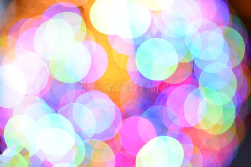 Blå och rosa bokehbakgrund för mycket ljust färgrikt ljus - royaltyfria bilder