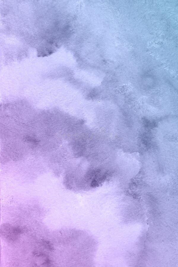 Blå och rosa fiowerbakgrund, härlig idérik planet vektor illustrationer