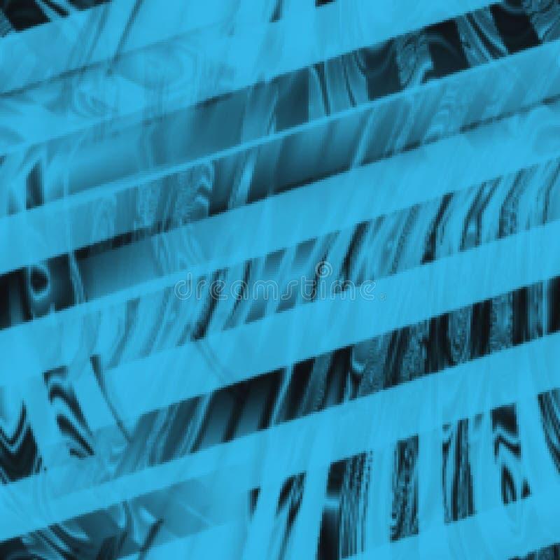 Blå och svart abstrakt åldrig urklippsbokbakgrund stock illustrationer