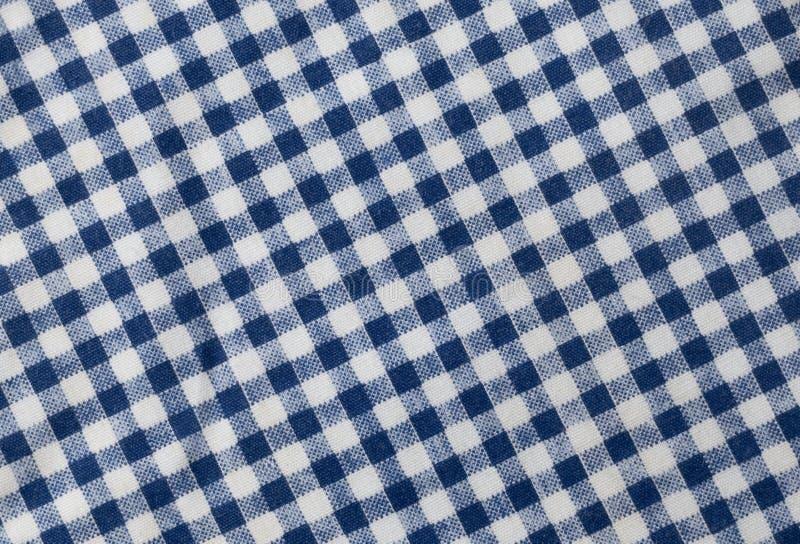 Blå och vit skogsarbetare Plaid Pattern Background royaltyfria foton