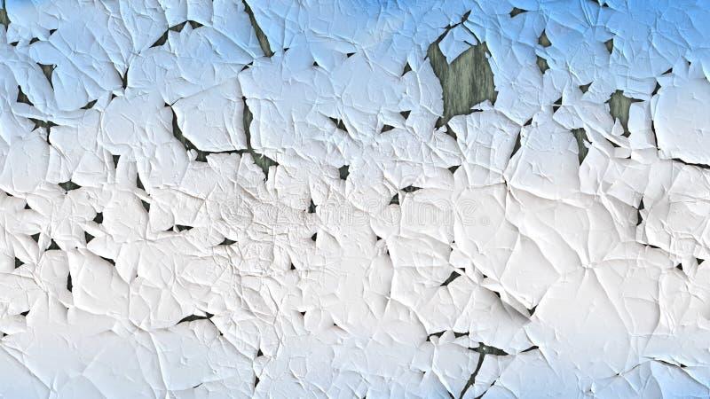 Blå och vit sprucken målarfärgtexturbakgrund royaltyfri illustrationer