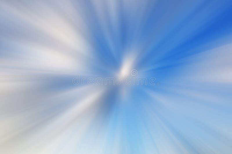 Blå och vit suddighet för bakgrundsabstrakt begrepprörelse