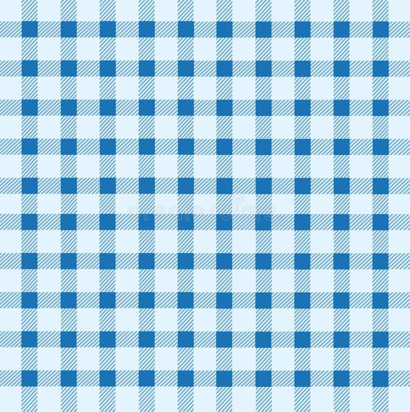 Blå och vit tablecloth stock illustrationer