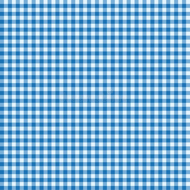 Blå och vit tablecloth vektor illustrationer