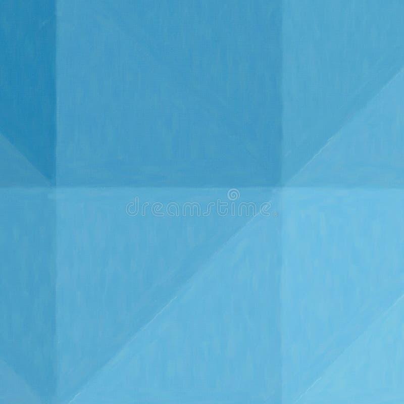 Blå olje- pastell i fyrkantig formbakgrundsillustration stock illustrationer