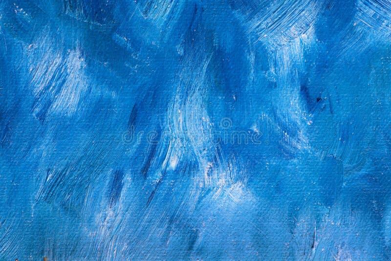 blå oljemålarfärg för bakgrund arkivfoto