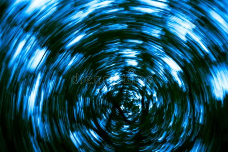 Blå oskarp abstrakt bakgrund för runda former royaltyfri illustrationer