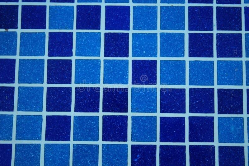 Blå pölmosaiktegelplatta royaltyfria foton