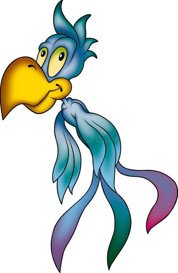 blå papegoja vektor illustrationer