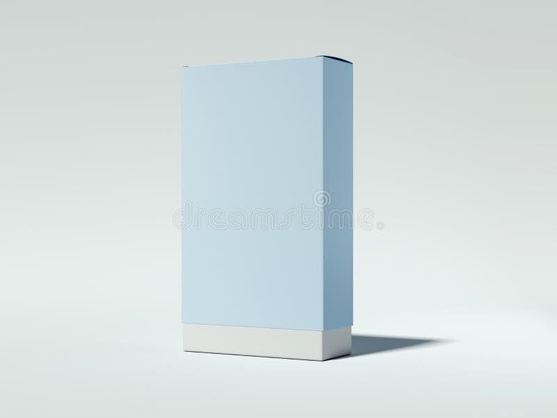 Blå papppacke framförande 3d arkivfoton