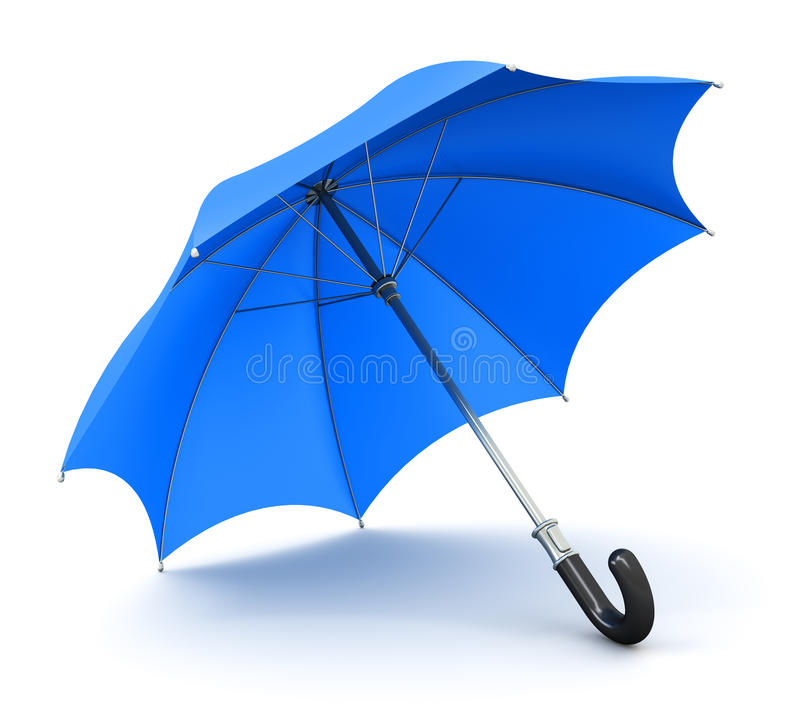 Blå paraply eller slags solskydd vektor illustrationer