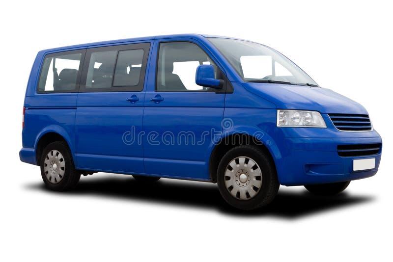 blå passagerareskåpbil royaltyfria foton