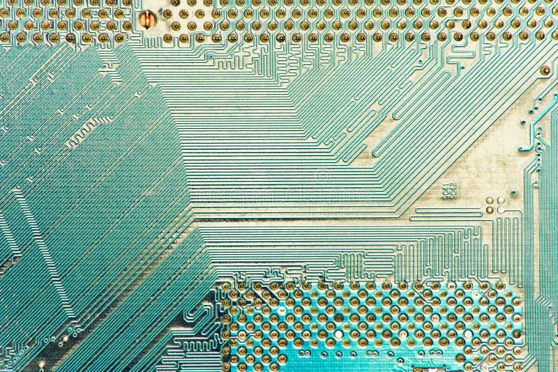 blå pcb för PC för moderkort för brädedator arkivfoto