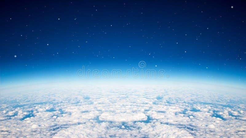 Blå planethimmel arkivfoto