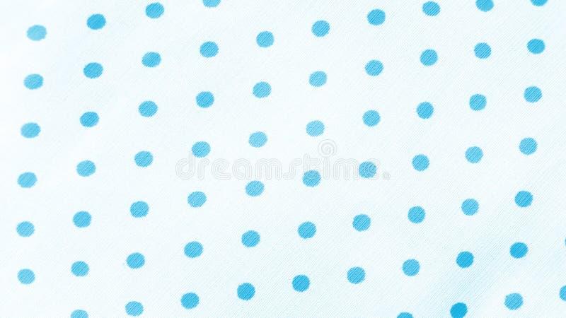 Blå polkaDot Fabric Seamless Polka Dots modell royaltyfri bild