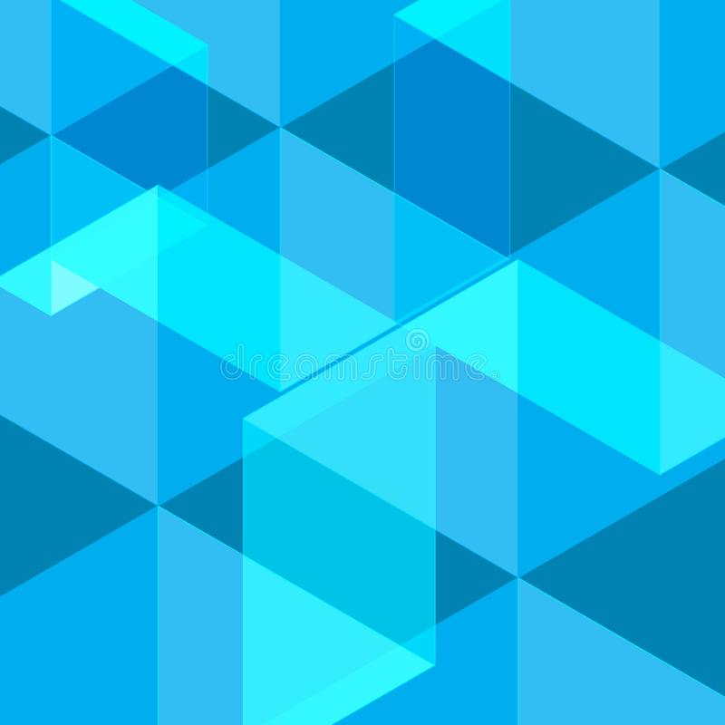 Blå polygonal geometrisk illustrationvektorbakgrund för din affär vektor illustrationer