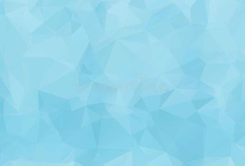 Blå Polygonal mosaisk bakgrund för vitt ljus, vektorillustration, royaltyfri illustrationer