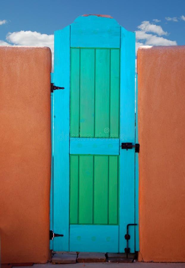 blå port fotografering för bildbyråer