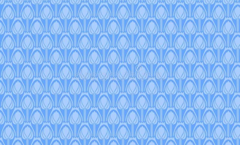 blå prydnad royaltyfri illustrationer