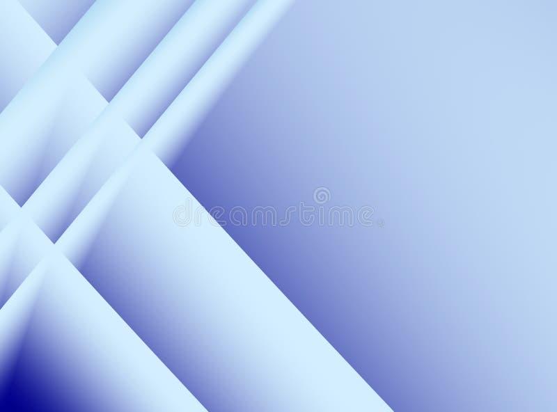Blå purpurfärgad fractalbakgrund med korsningen linjer modell stock illustrationer