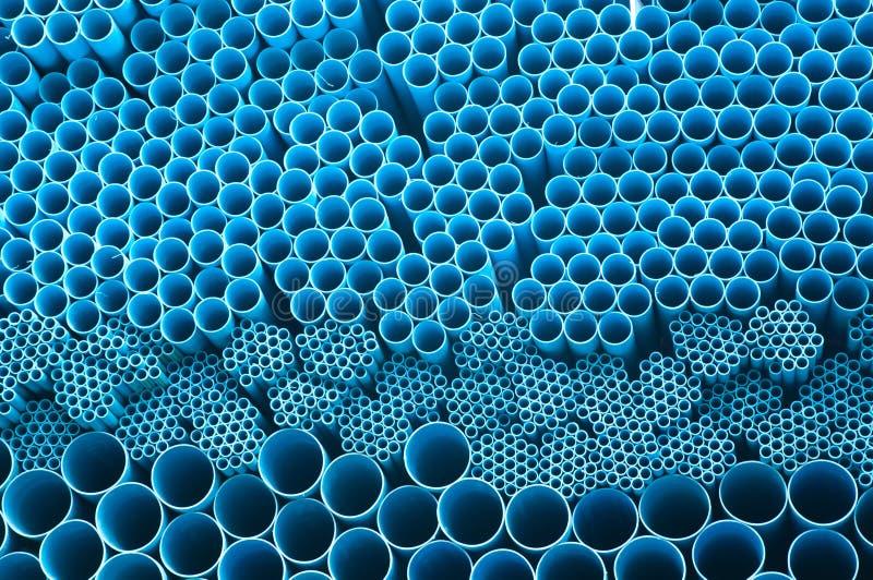 blå rørpvc arkivfoton