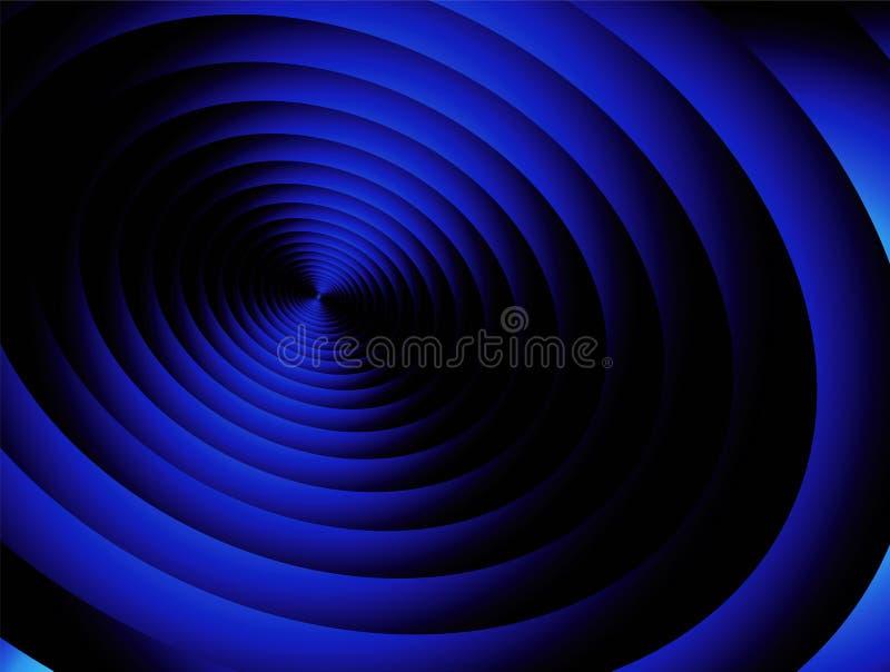blå radial royaltyfri illustrationer