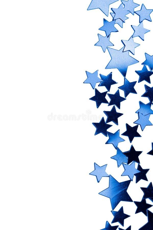 blå ram isolerade stjärnor fotografering för bildbyråer