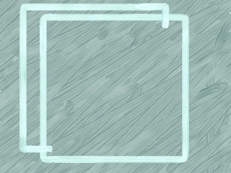 Blå ram på en grå textural bakgrund royaltyfri bild