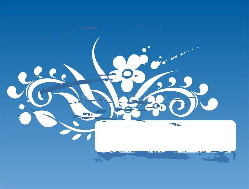 blå ramgrunge stock illustrationer