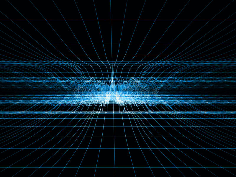 blå rastershockwave stock illustrationer