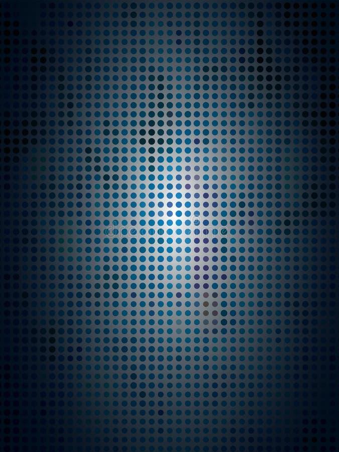 Blå rastrerad Camo bakgrund stock illustrationer