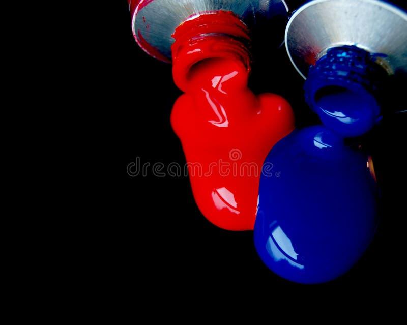 blå red royaltyfri bild