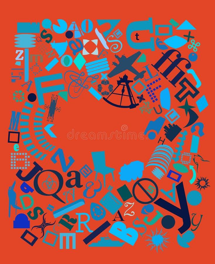 blå red för diagramnyheternaaffisch royaltyfri illustrationer